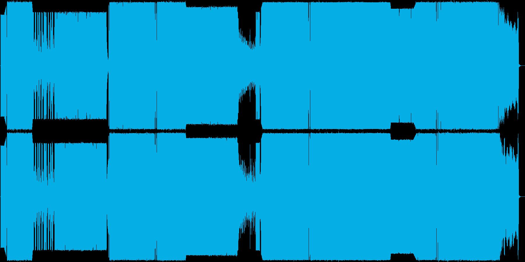シンセ+ロックサウンドの再生済みの波形