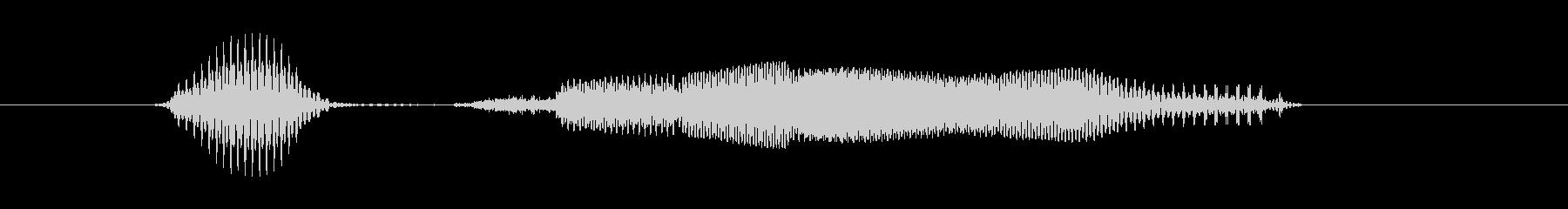 生き物の未再生の波形