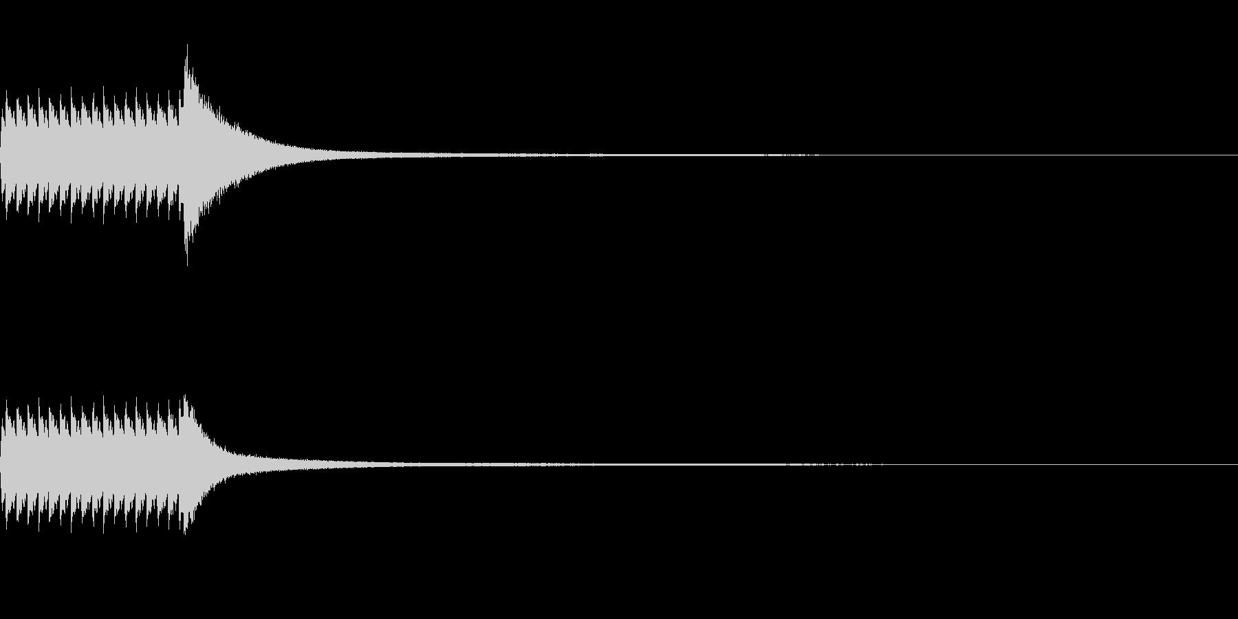 お値段発表の未再生の波形