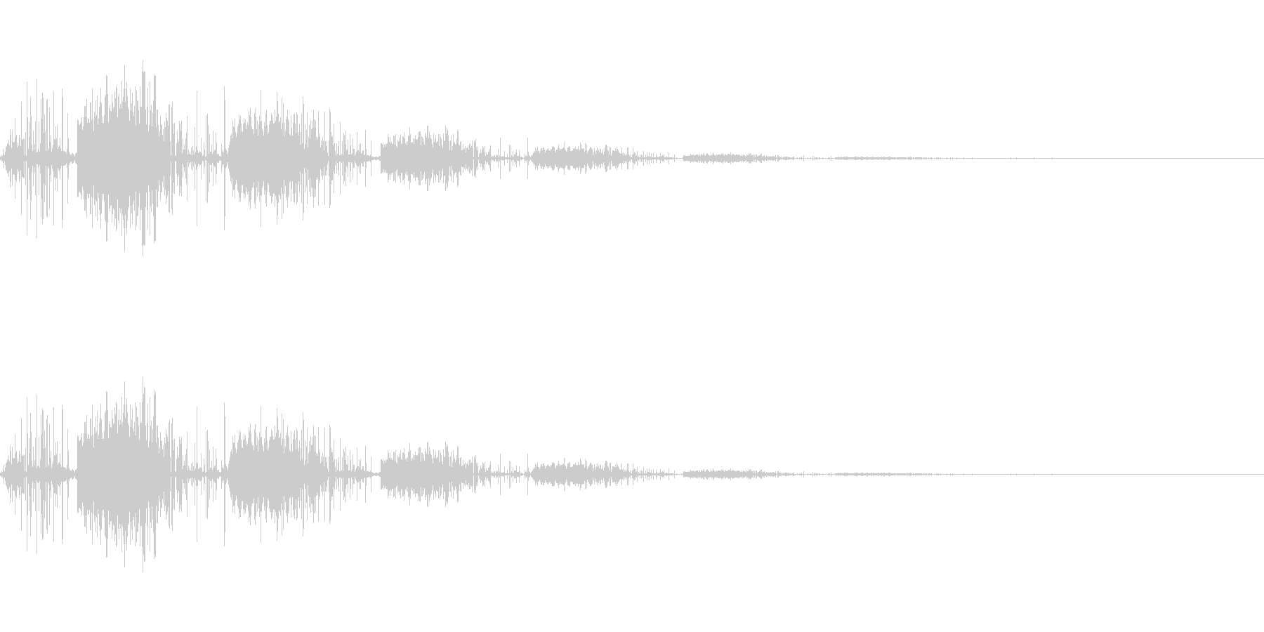レトロなゲーム機から鳴っているノイズ系…の未再生の波形