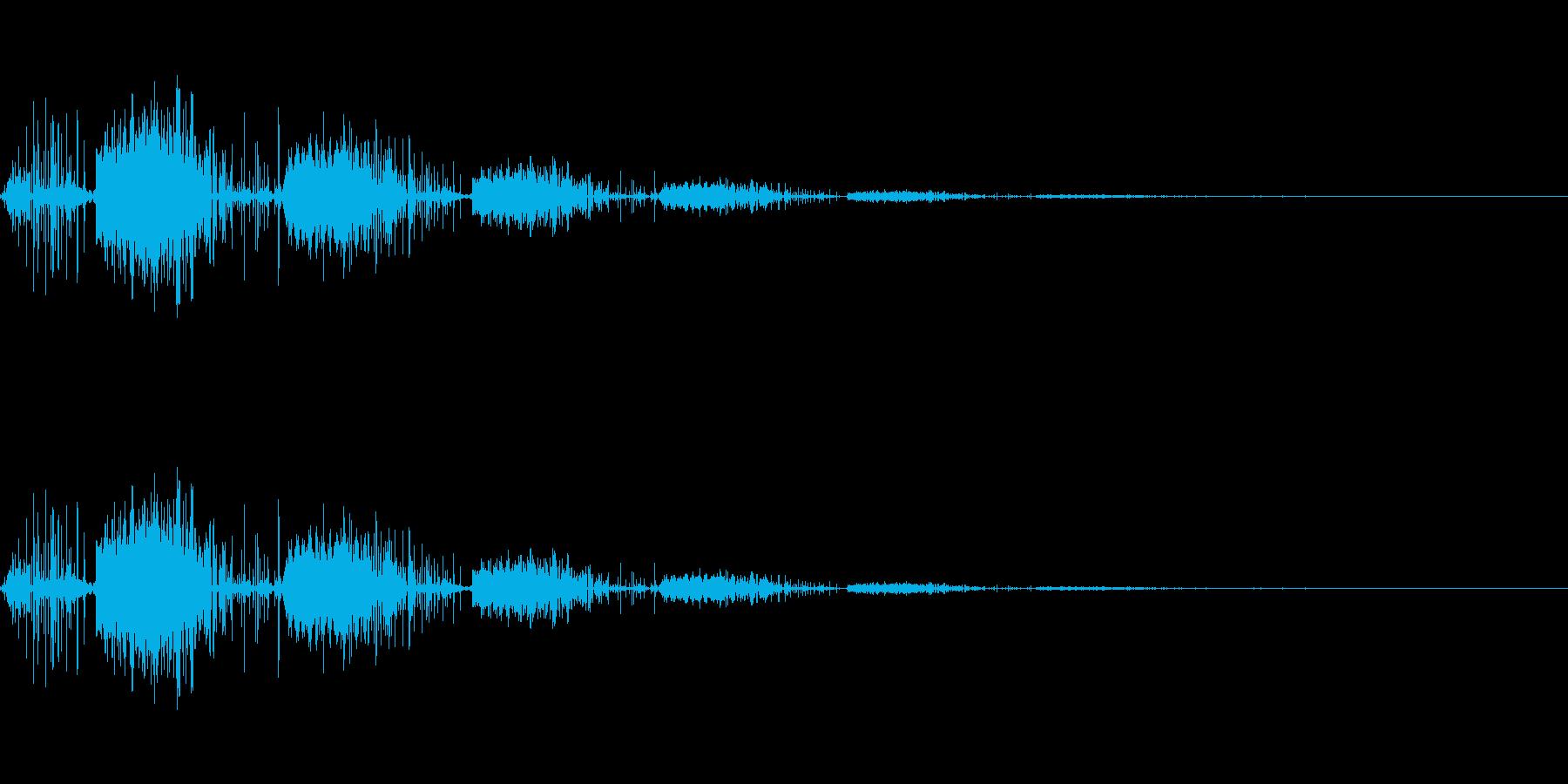 レトロなゲーム機から鳴っているノイズ系…の再生済みの波形