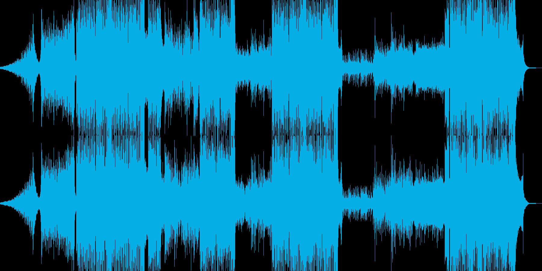 冬景色イメージのピアノトランスの再生済みの波形