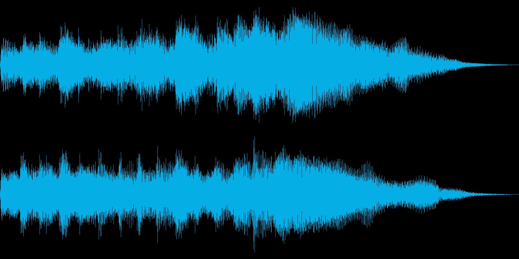 クリーンギターのアルペジオ 場面転換の再生済みの波形