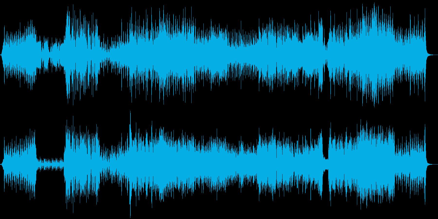 アコーディオンと弦楽器を使ったノイズ系曲の再生済みの波形