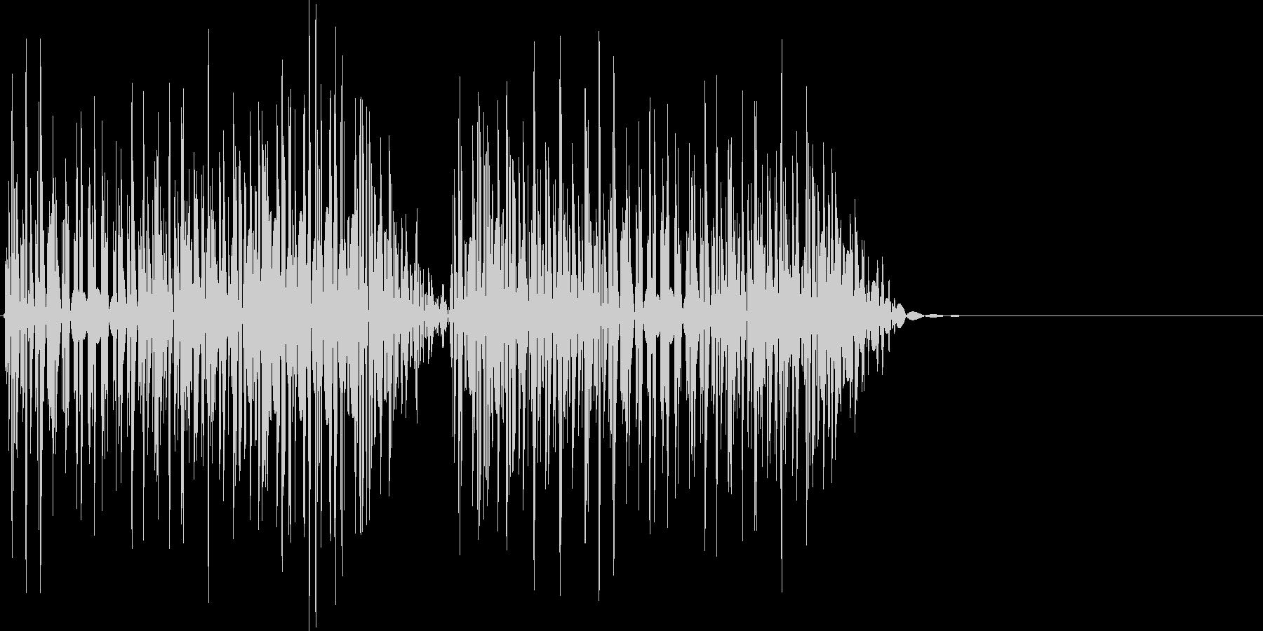 クイズ不正解(ブブッ)の未再生の波形