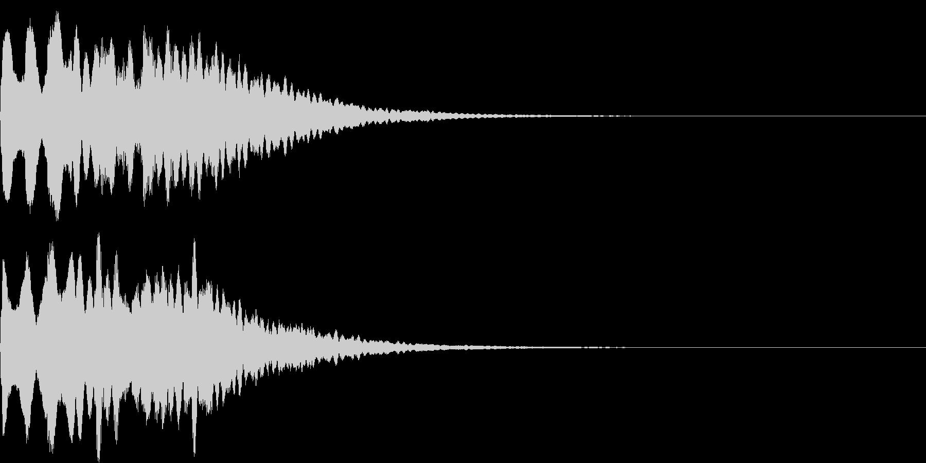 着信音1 スワイプ お知らせ キラキラの未再生の波形