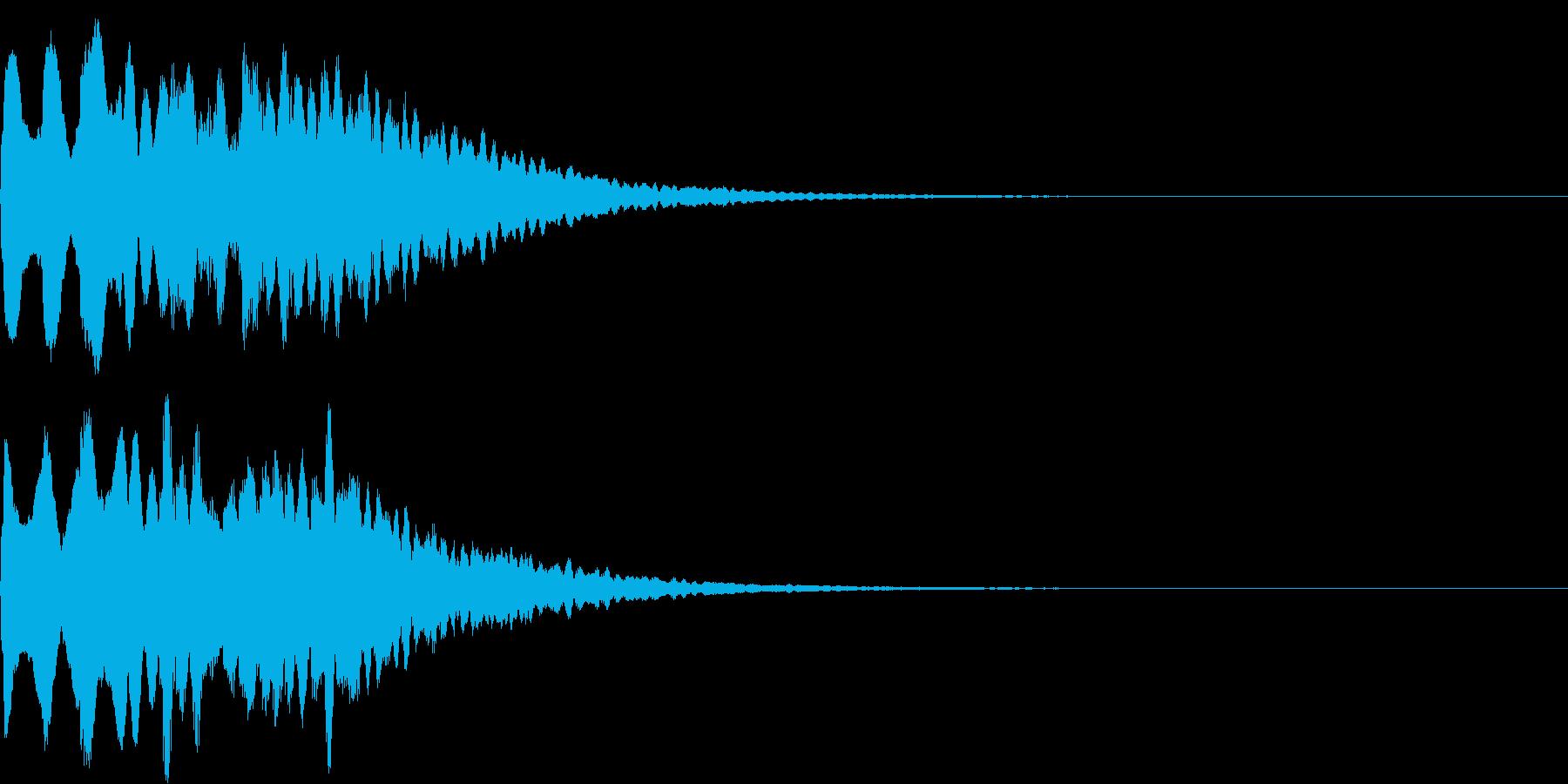 着信音1 スワイプ お知らせ キラキラの再生済みの波形