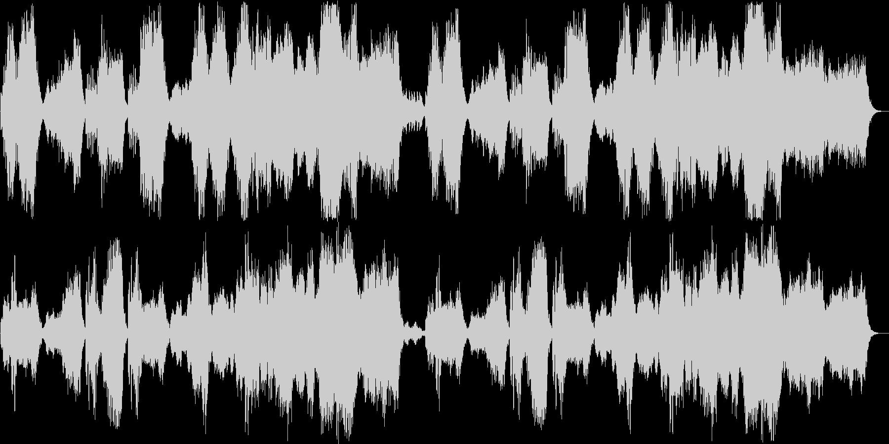 穏やかなリラックスできるヒーリング曲の未再生の波形