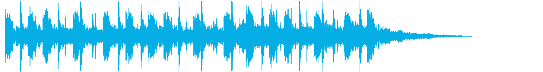 緩やかでマイナーなビートジングルの再生済みの波形