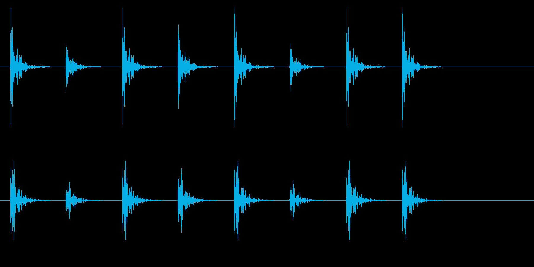 ポクポク2 木魚・シンキングタイム5秒の再生済みの波形