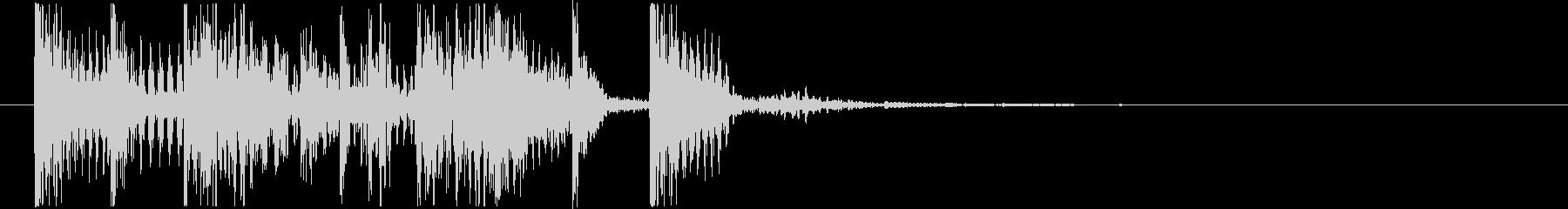ゲームクリアジングル01の未再生の波形