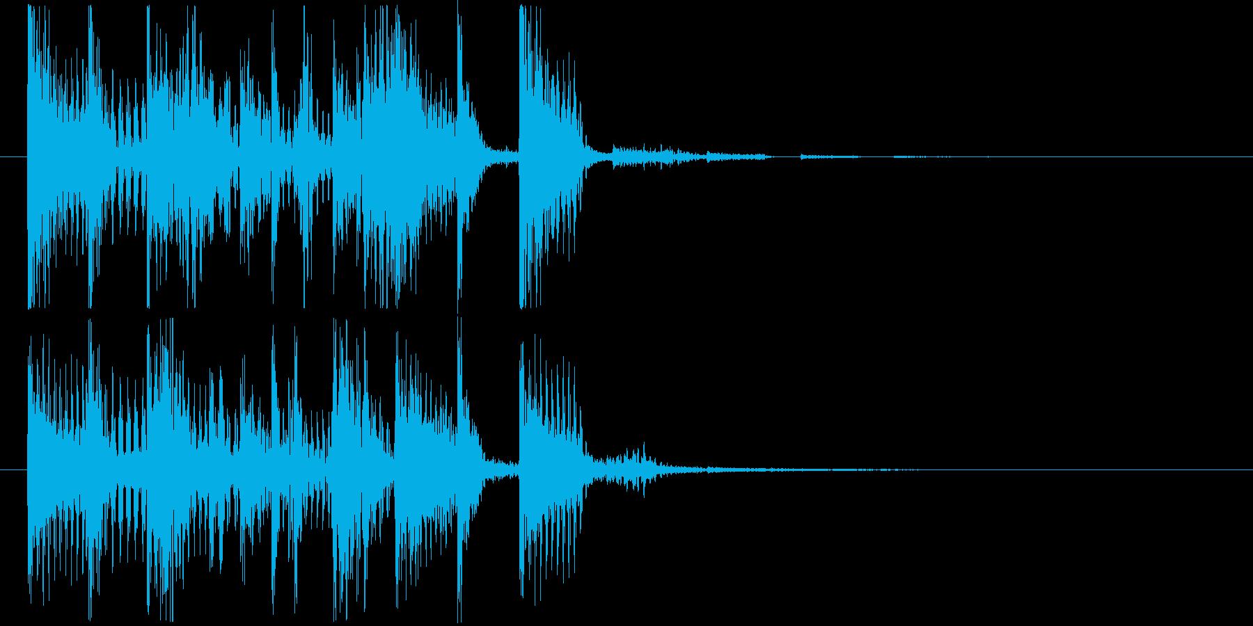 ゲームクリアジングル01の再生済みの波形