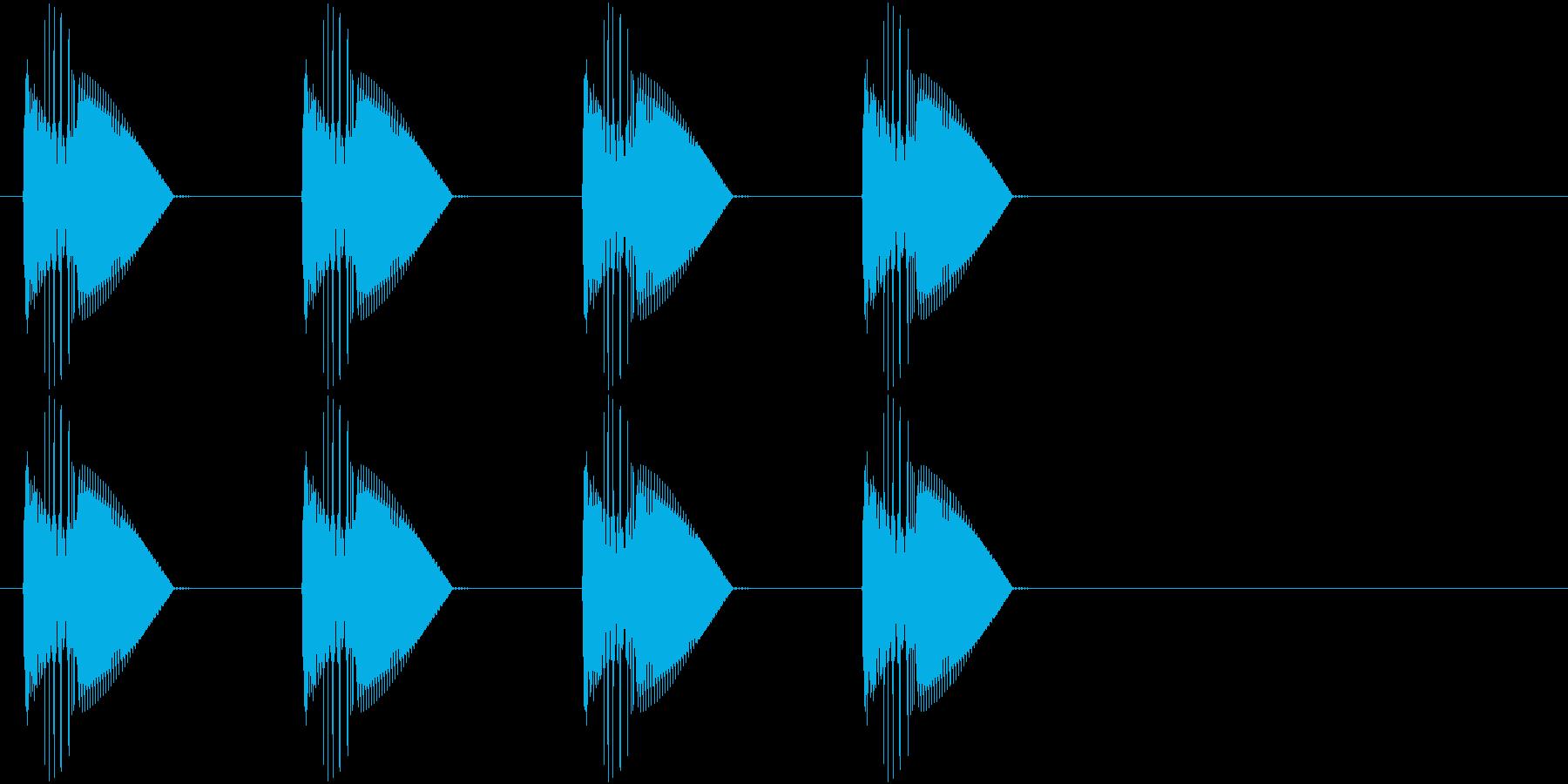 警告・警報・サイレン・ブザー#4の再生済みの波形