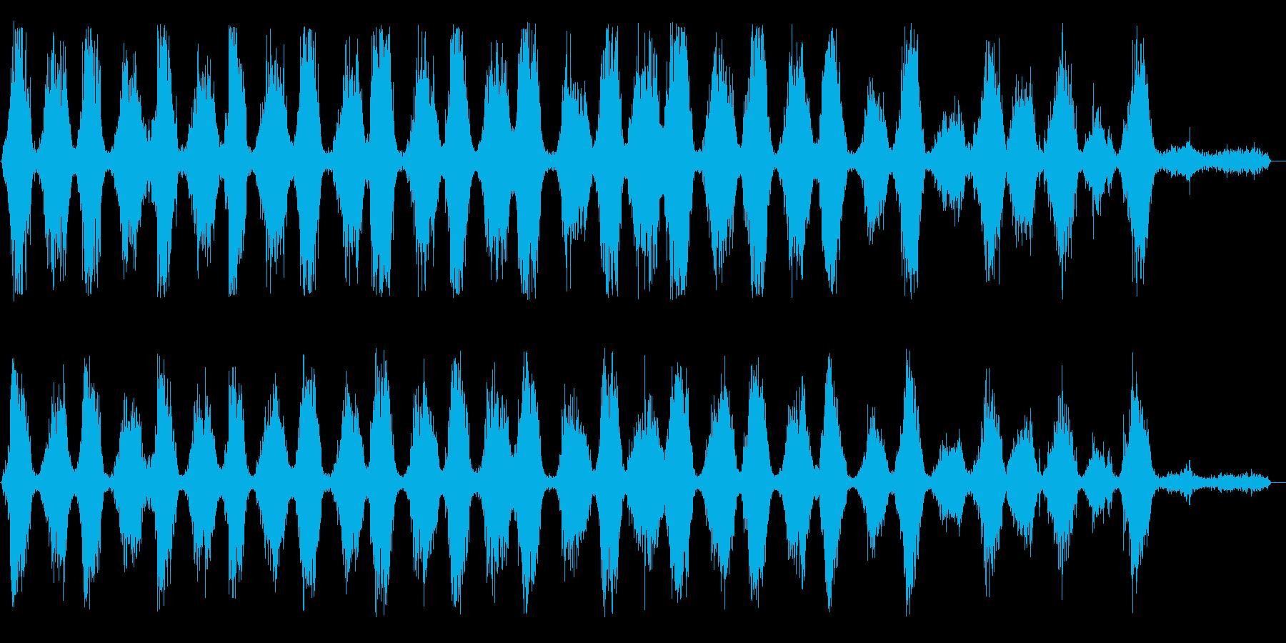 ゼシュゼシュ(鋸を繰り返し引く音)の再生済みの波形