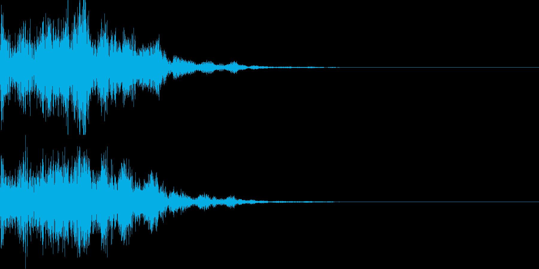 ボタン押下や決定音_キュルルン!の再生済みの波形