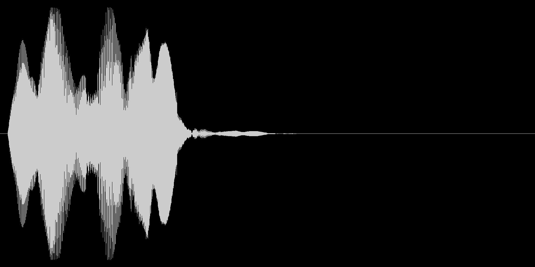 プルン3_ぷにぷにした感触の音の未再生の波形