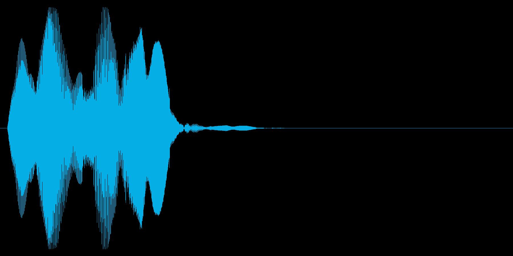 プルン3_ぷにぷにした感触の音の再生済みの波形