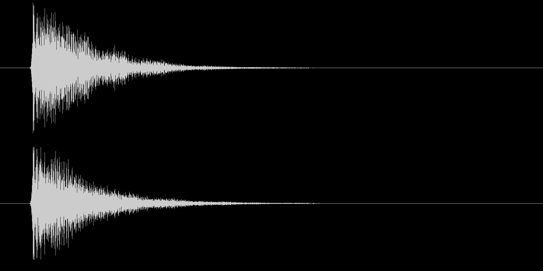 デン(決定音)の未再生の波形