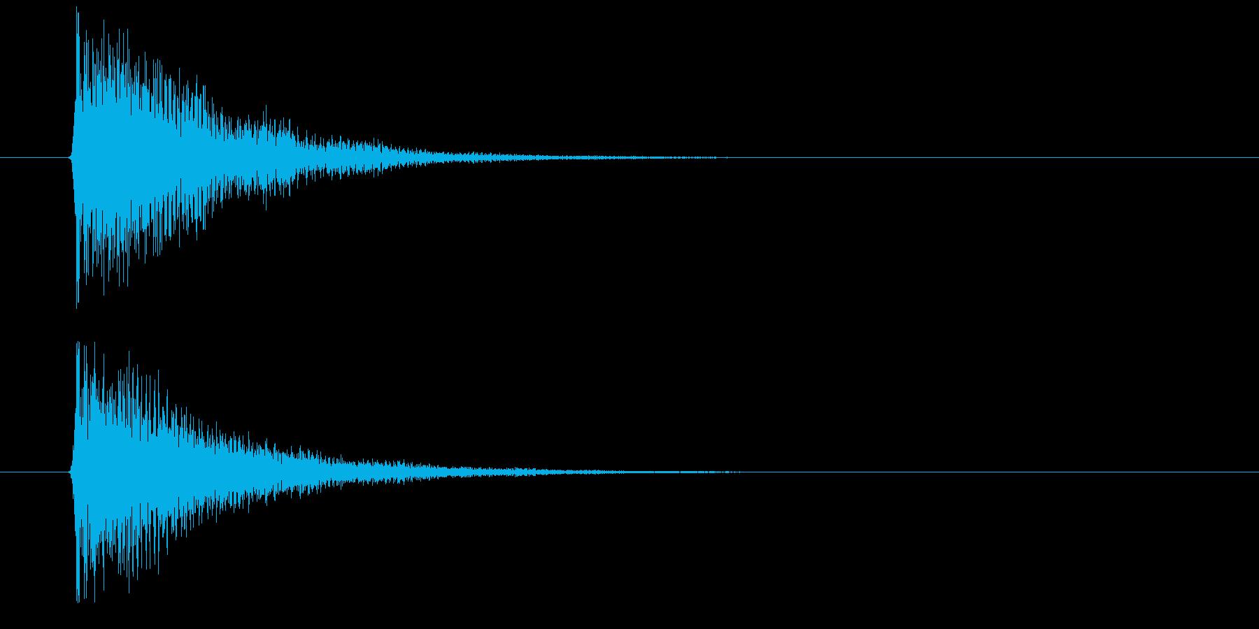 デン(決定音)の再生済みの波形
