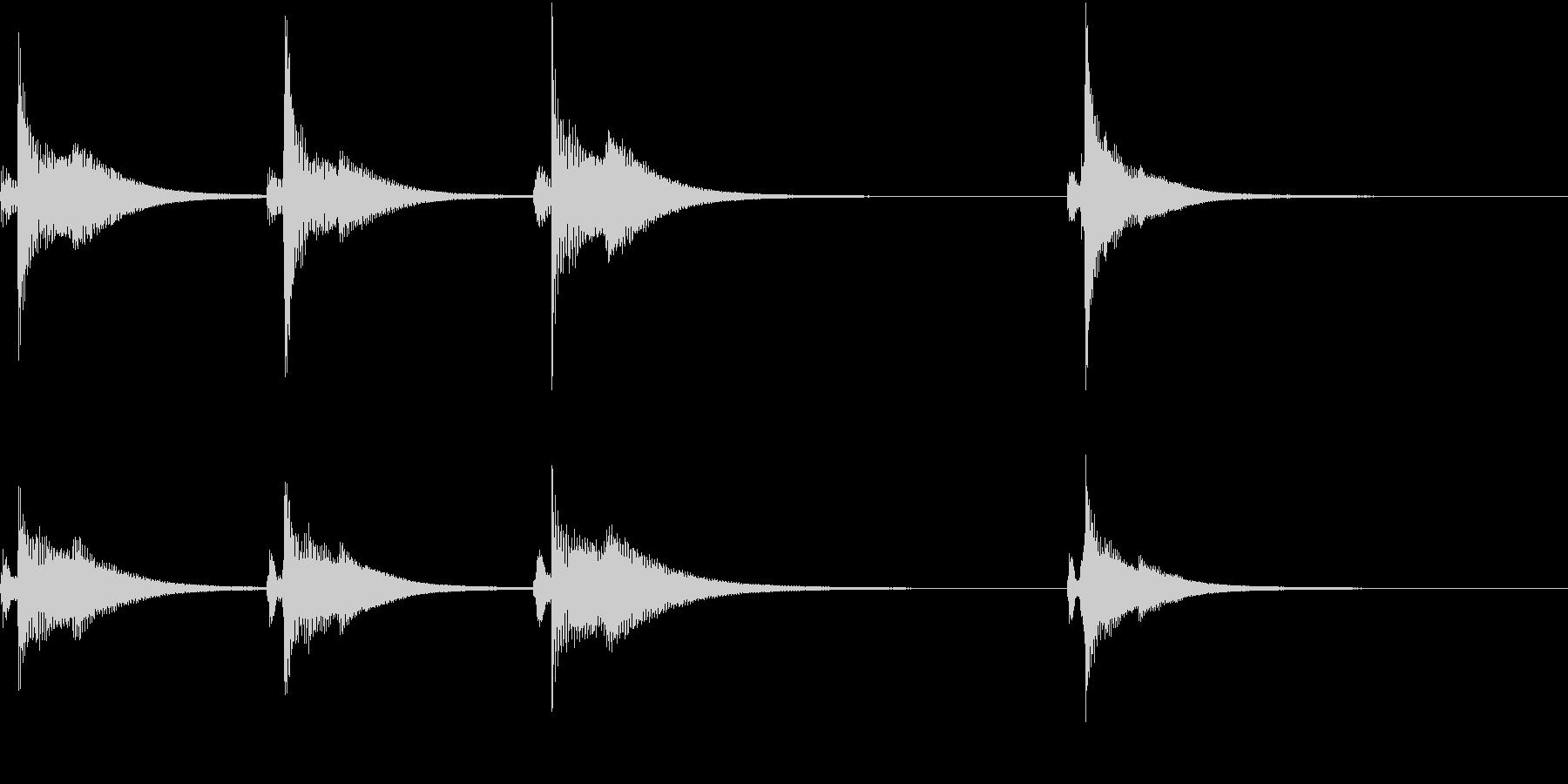Kawaii メルヘンな受信・通知音 4の未再生の波形