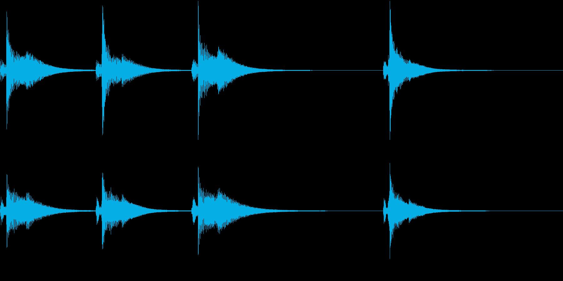 Kawaii メルヘンな受信・通知音 4の再生済みの波形