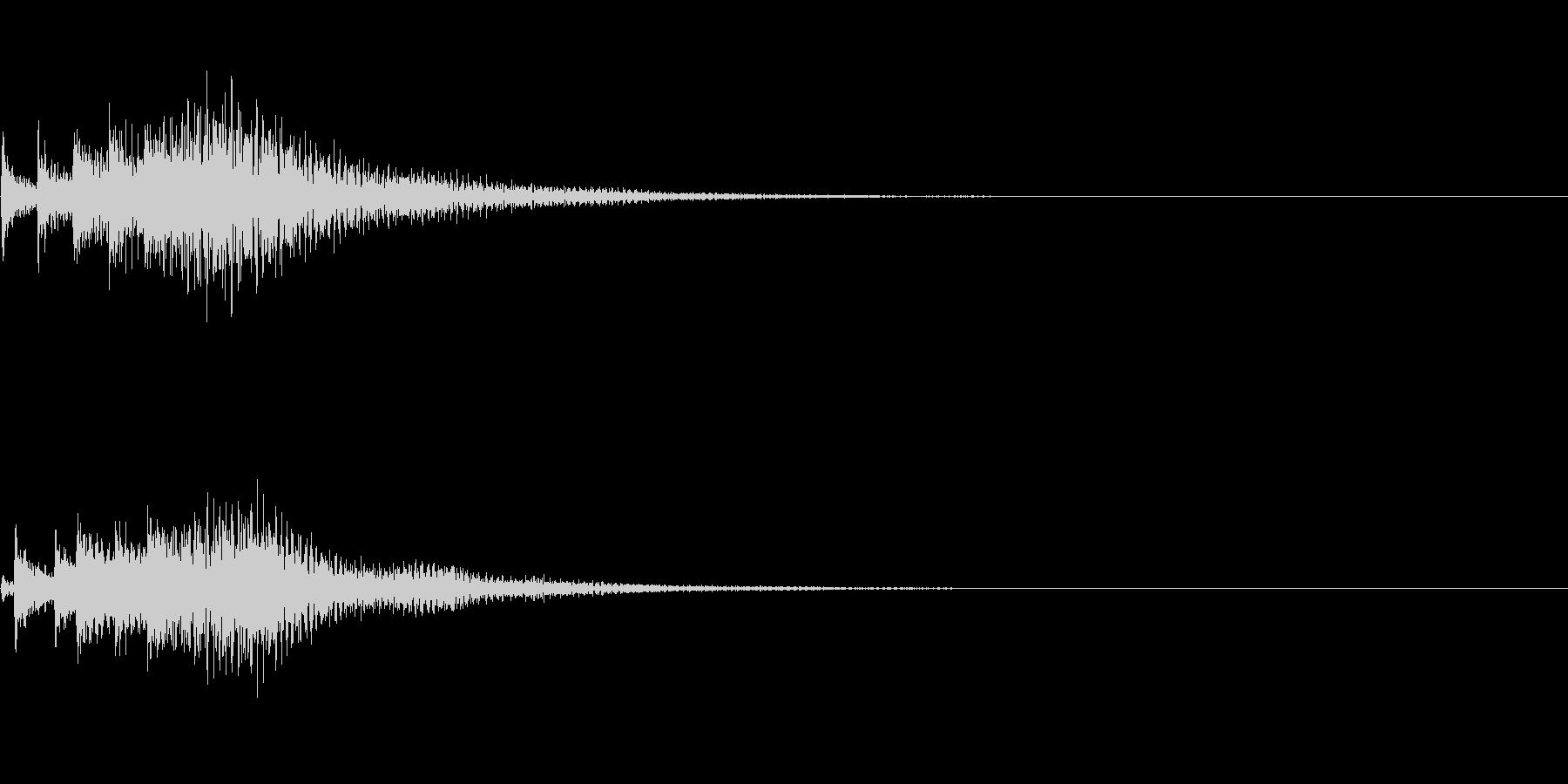 システム音30の未再生の波形