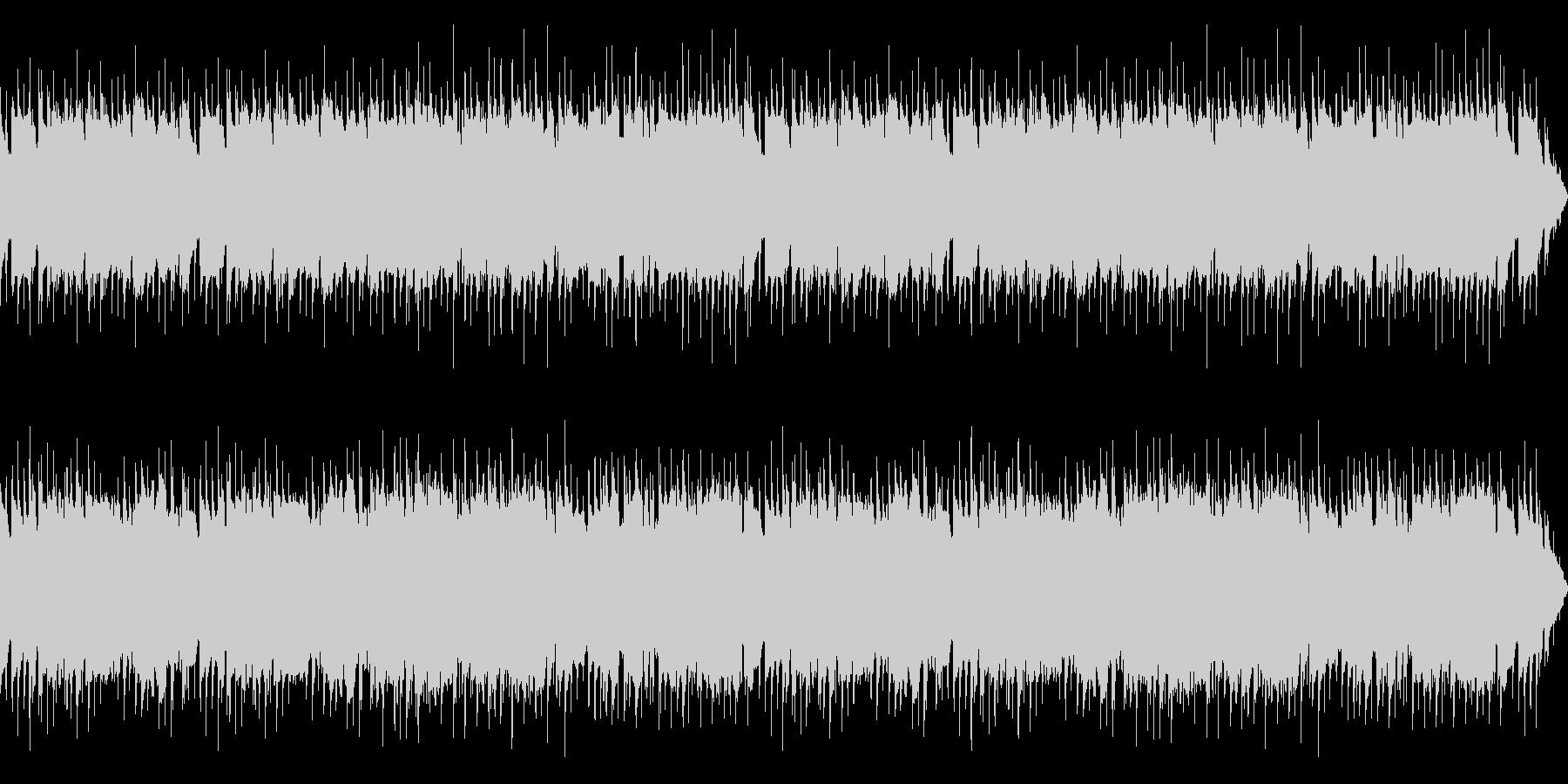 ほのぼのとした明るいBGMの未再生の波形