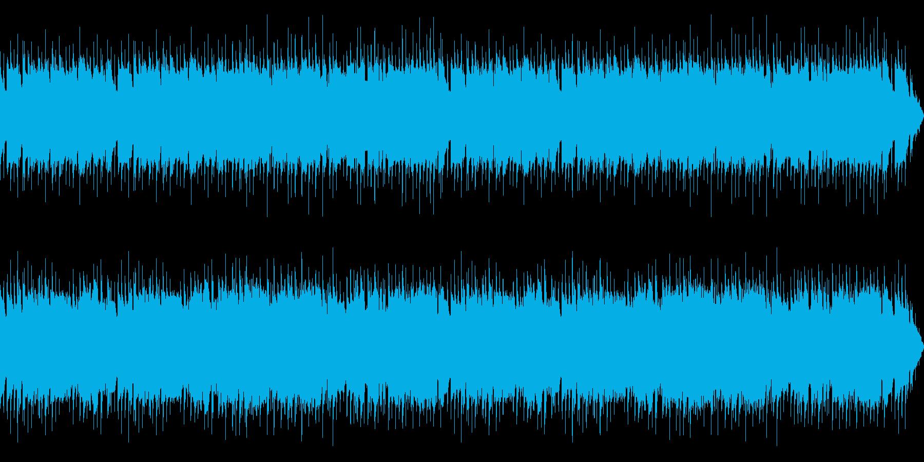 ほのぼのとした明るいBGMの再生済みの波形