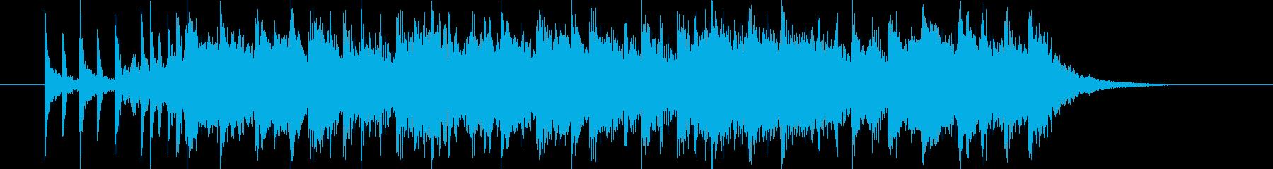 疾走感がありドラムが印象的なBGMの再生済みの波形
