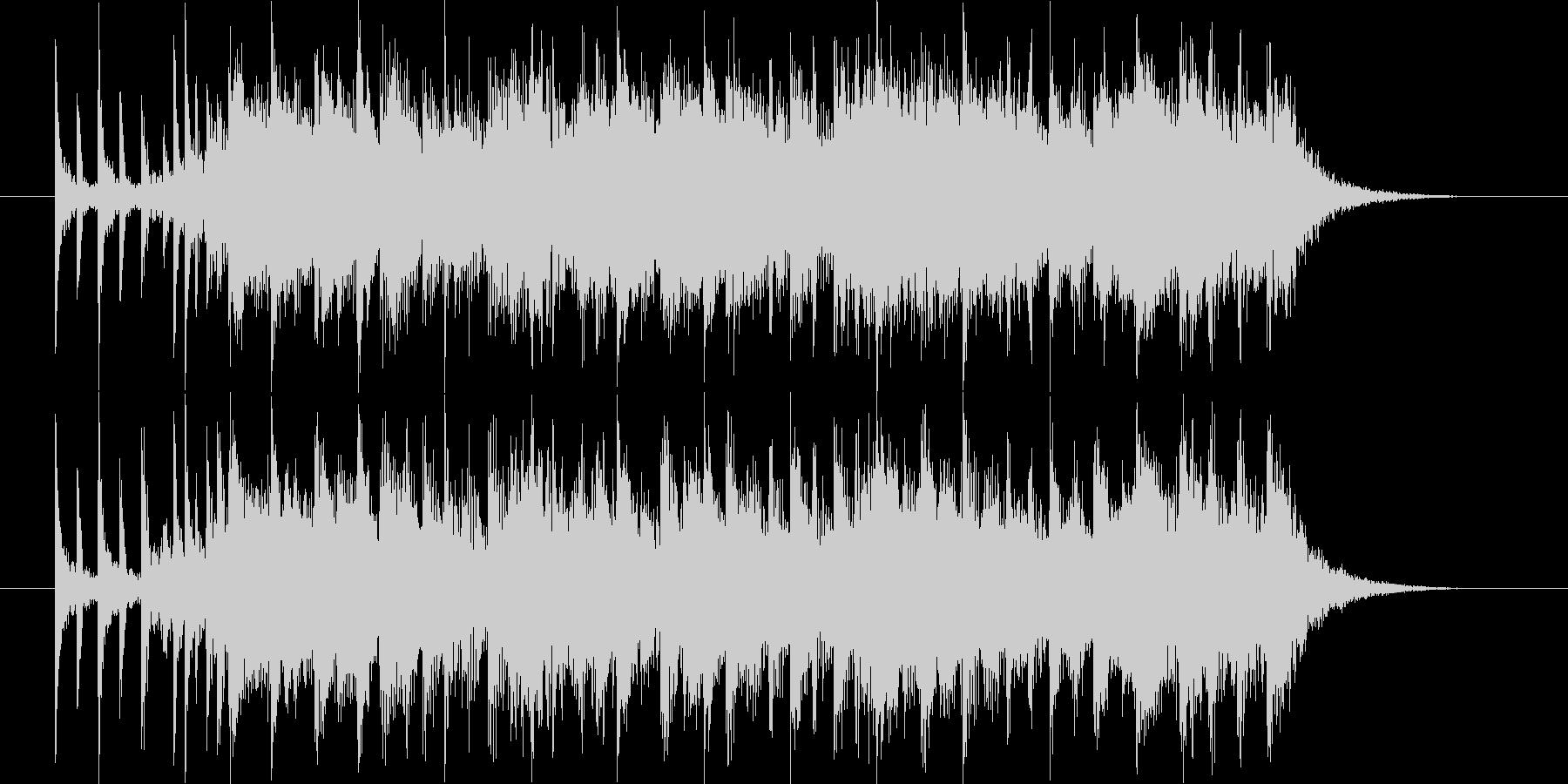 疾走感がありドラムが印象的なBGMの未再生の波形