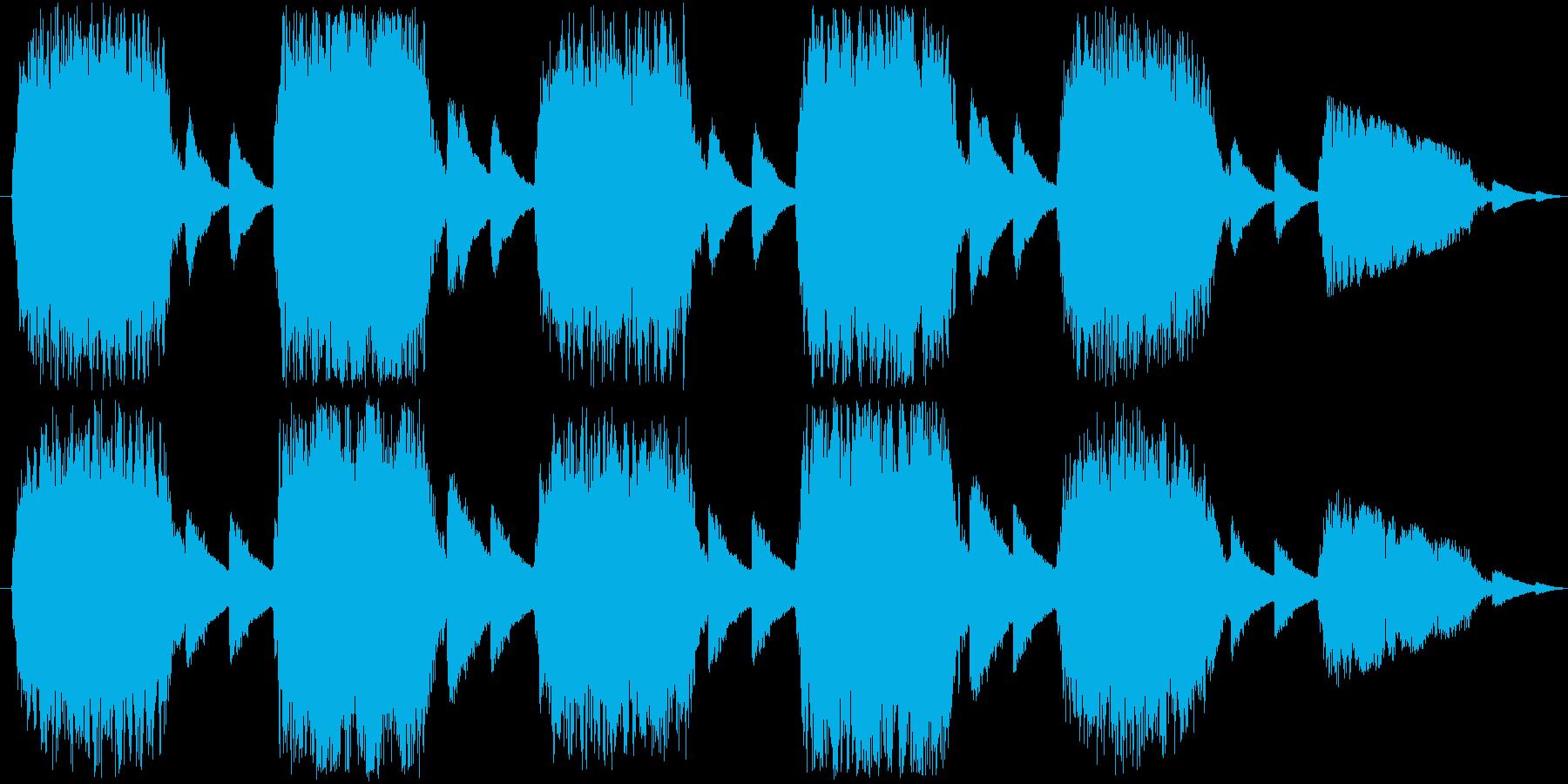 クワイアによる不気味で禍々しい楽曲の再生済みの波形