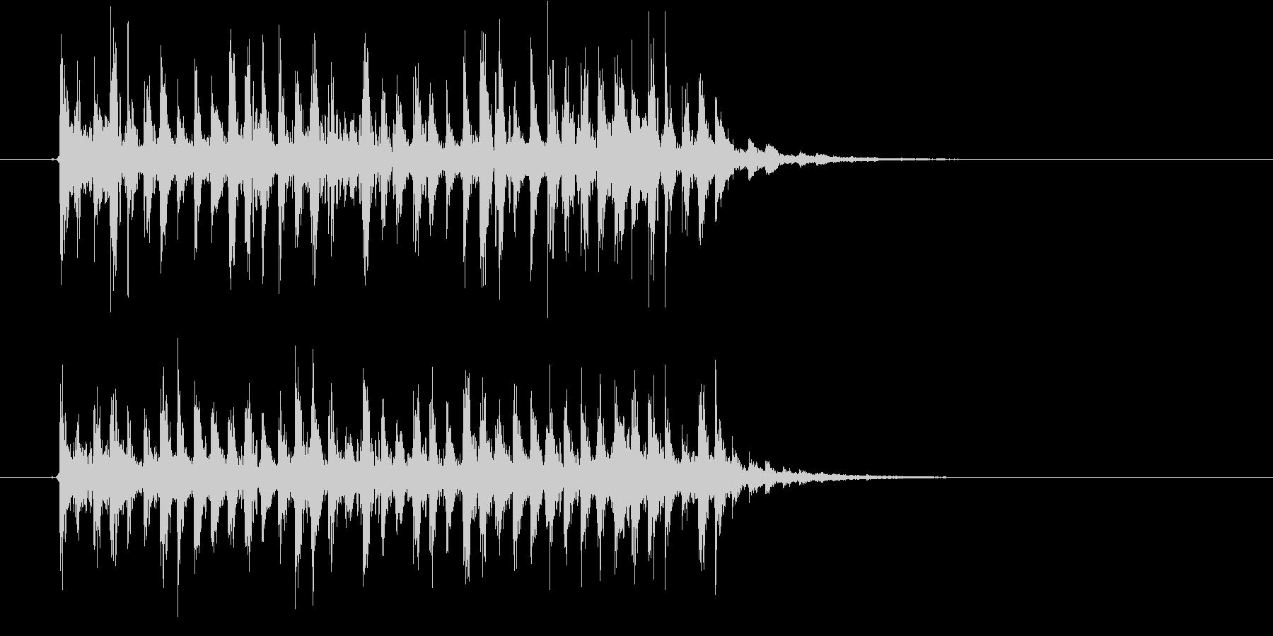 軽快でリズミカルなシンセジングルの未再生の波形