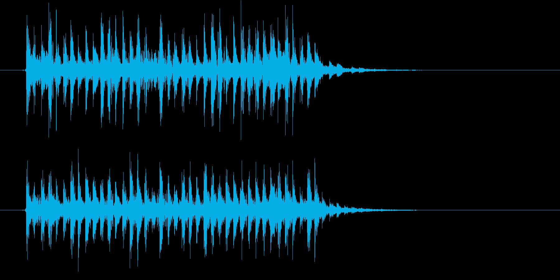 軽快でリズミカルなシンセジングルの再生済みの波形