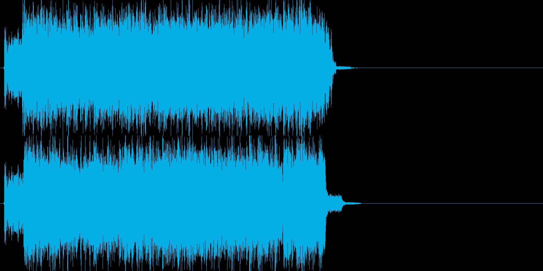ロック、メタルジングルの再生済みの波形