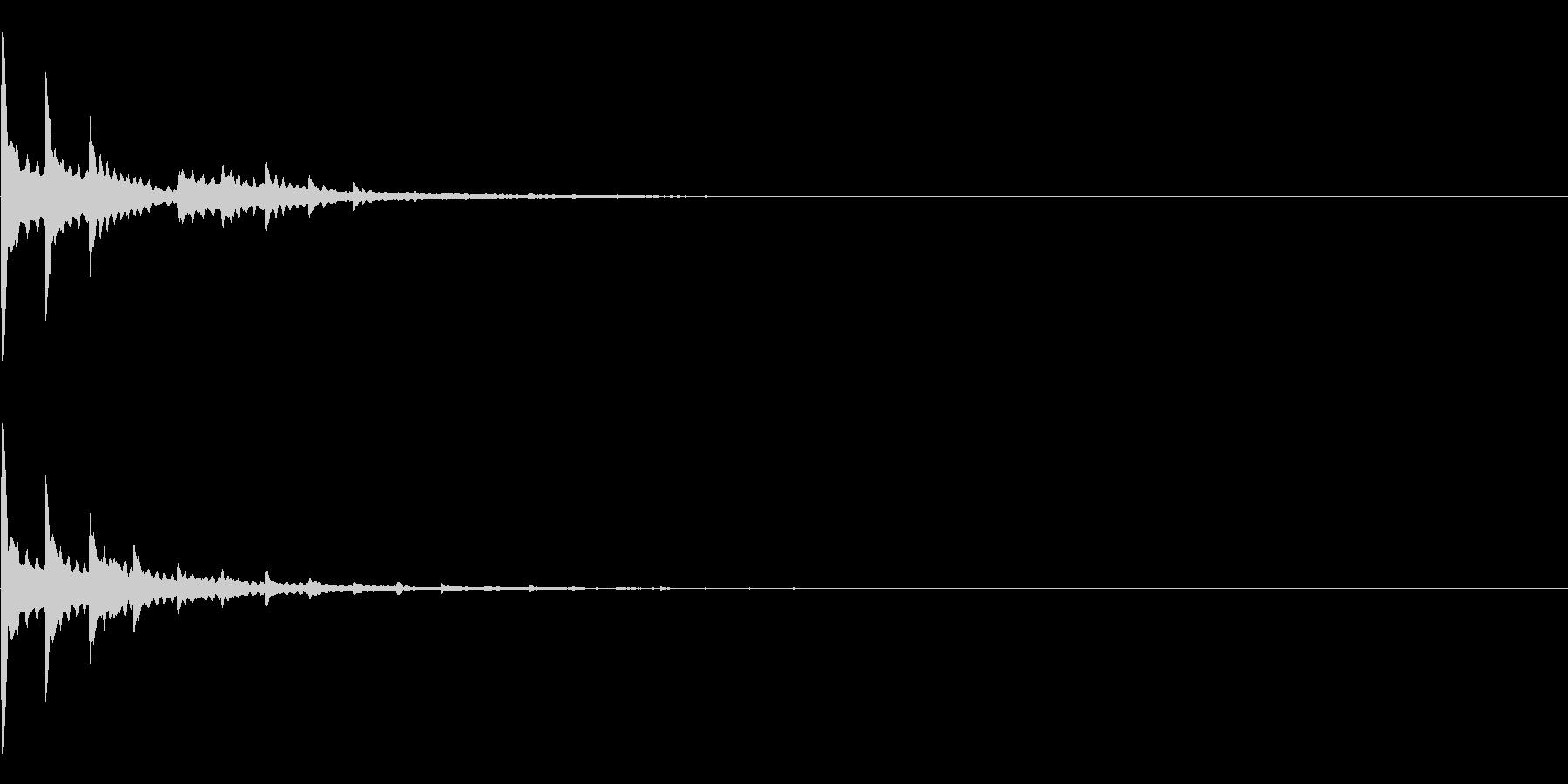 ページをめくるボタン1 注釈 ひらめきの未再生の波形
