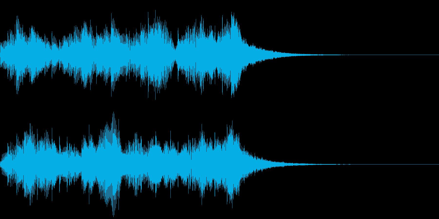 ああこれバッハだなぁ、って感じのジングルの再生済みの波形