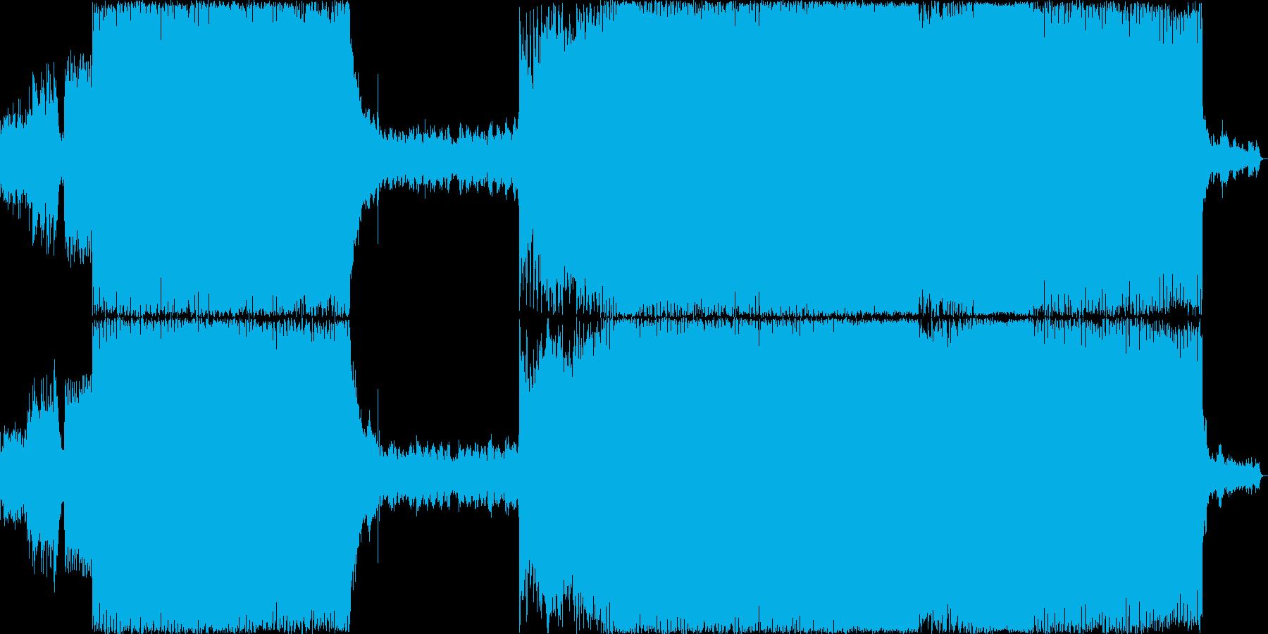 壮大なトランス ブレイク 水の音の再生済みの波形