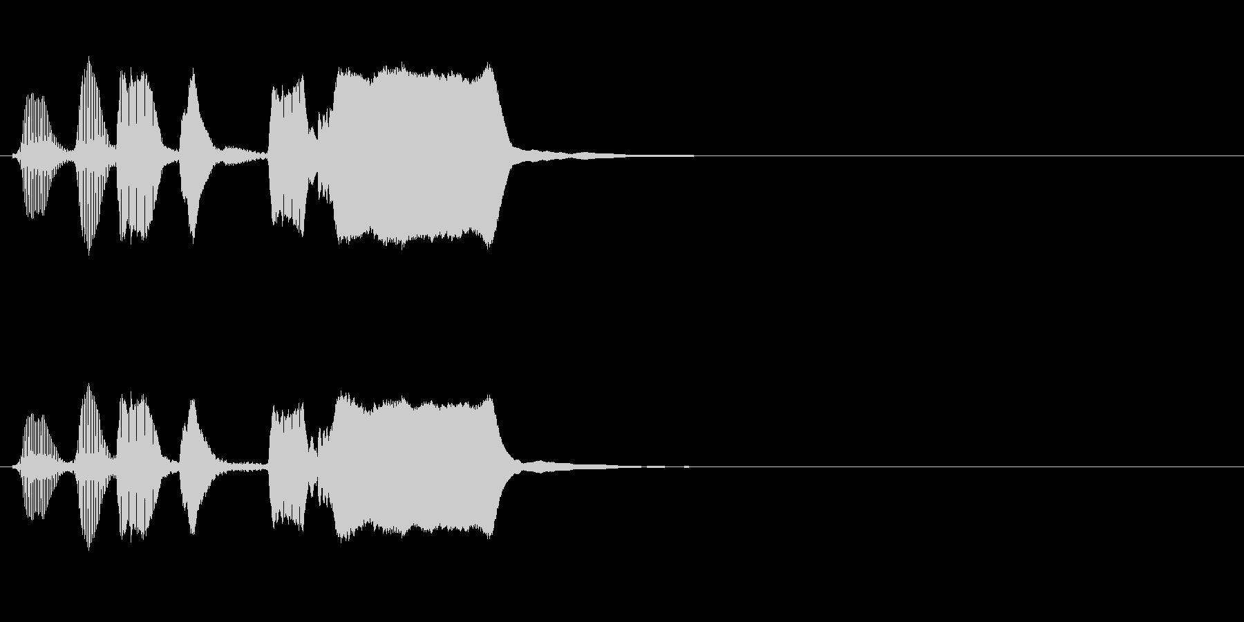 よくあるトランペットの効果音の未再生の波形