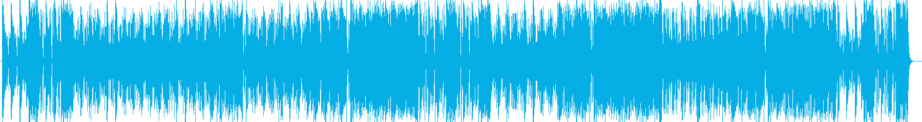 軽やかで爽快感溢れるミュージックの再生済みの波形