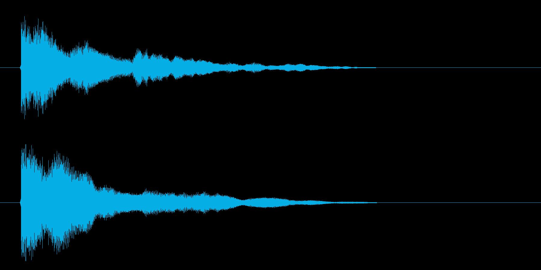 ガキーーーン 剣が強くぶつかる音 剣を…の再生済みの波形