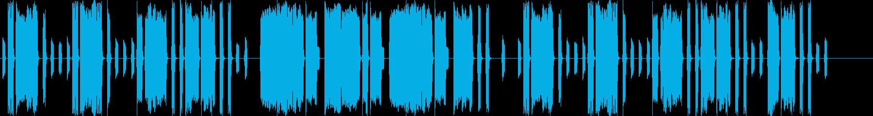 脱力系ほのぼの吹奏楽曲の再生済みの波形
