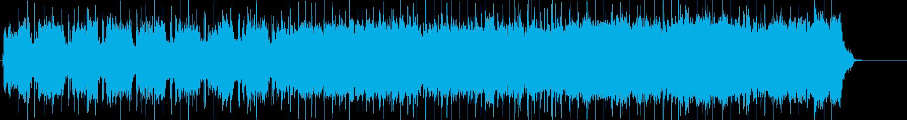 情熱を感じる躍動的なワイルドロックの再生済みの波形