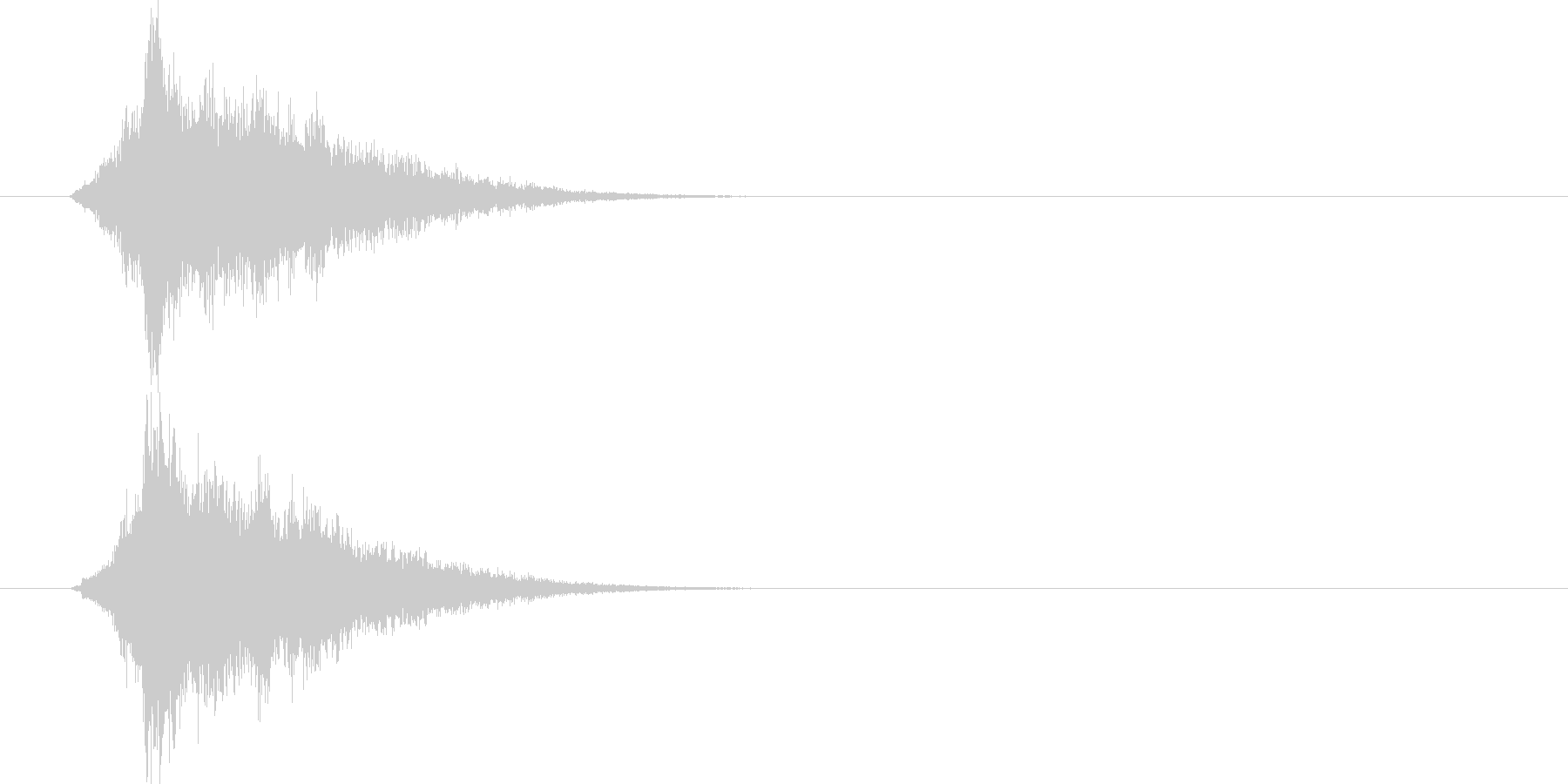 能力がアップする音ですの未再生の波形