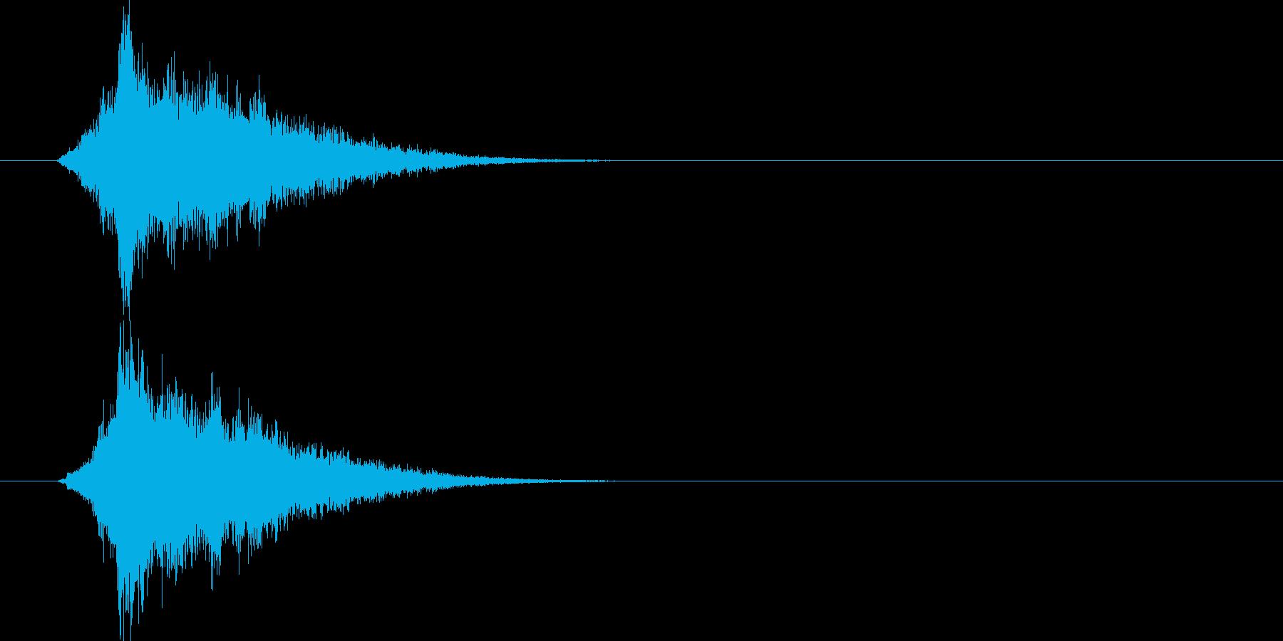能力がアップする音ですの再生済みの波形