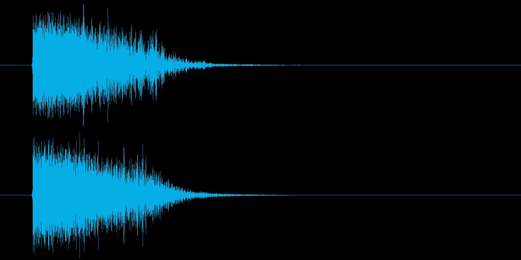 ビームライフルの再生済みの波形