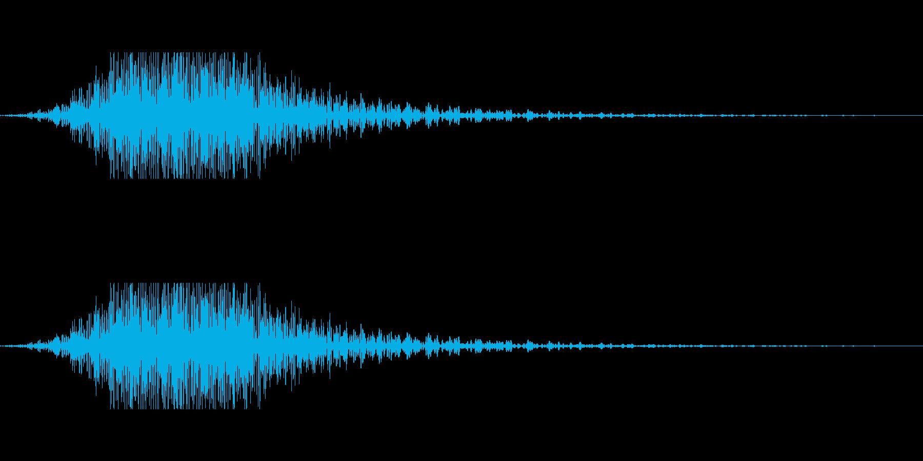 モンスターの唸り声などにの再生済みの波形