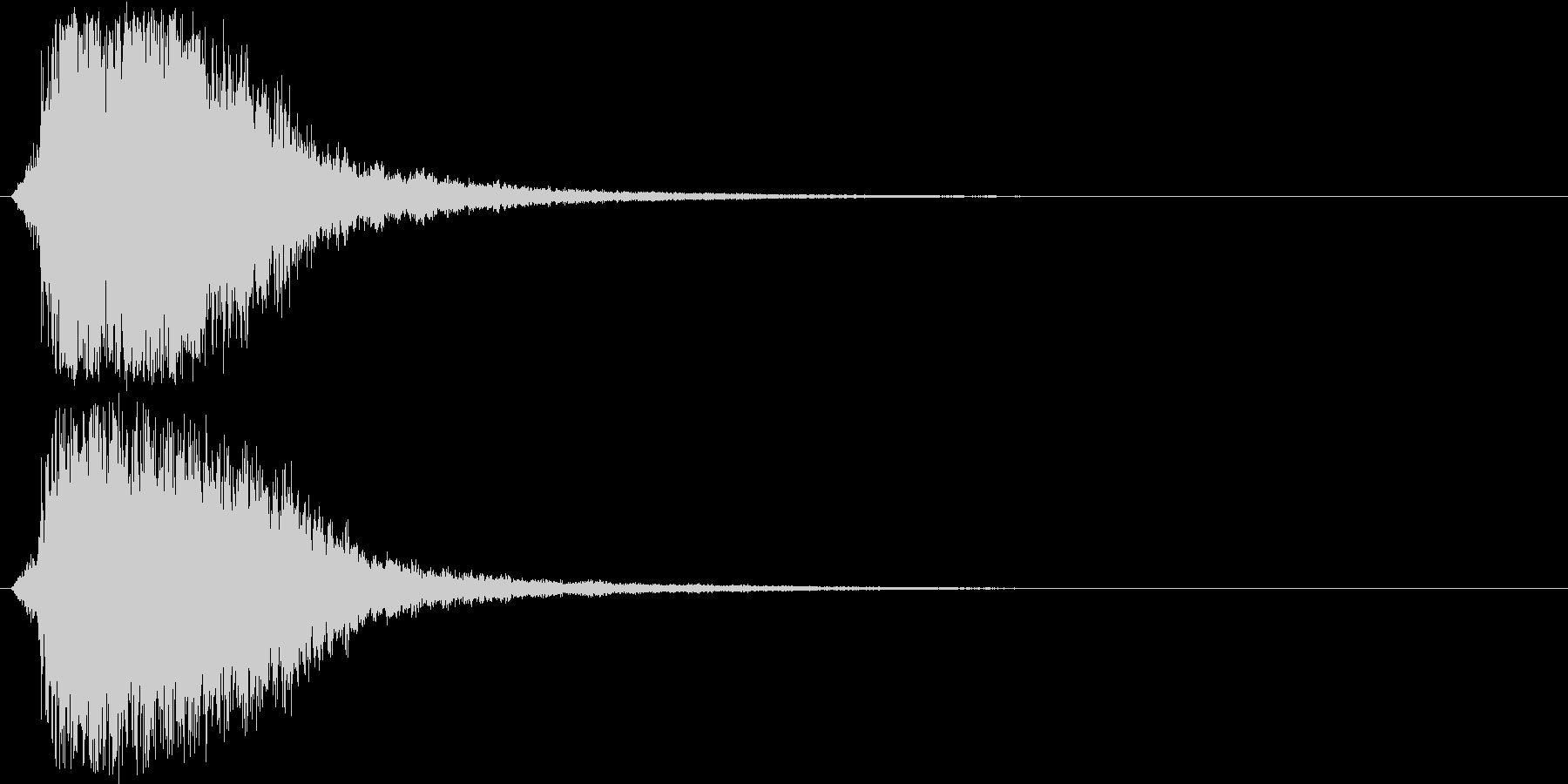 シャキーン(刀や剣のインパクト効果音)3の未再生の波形