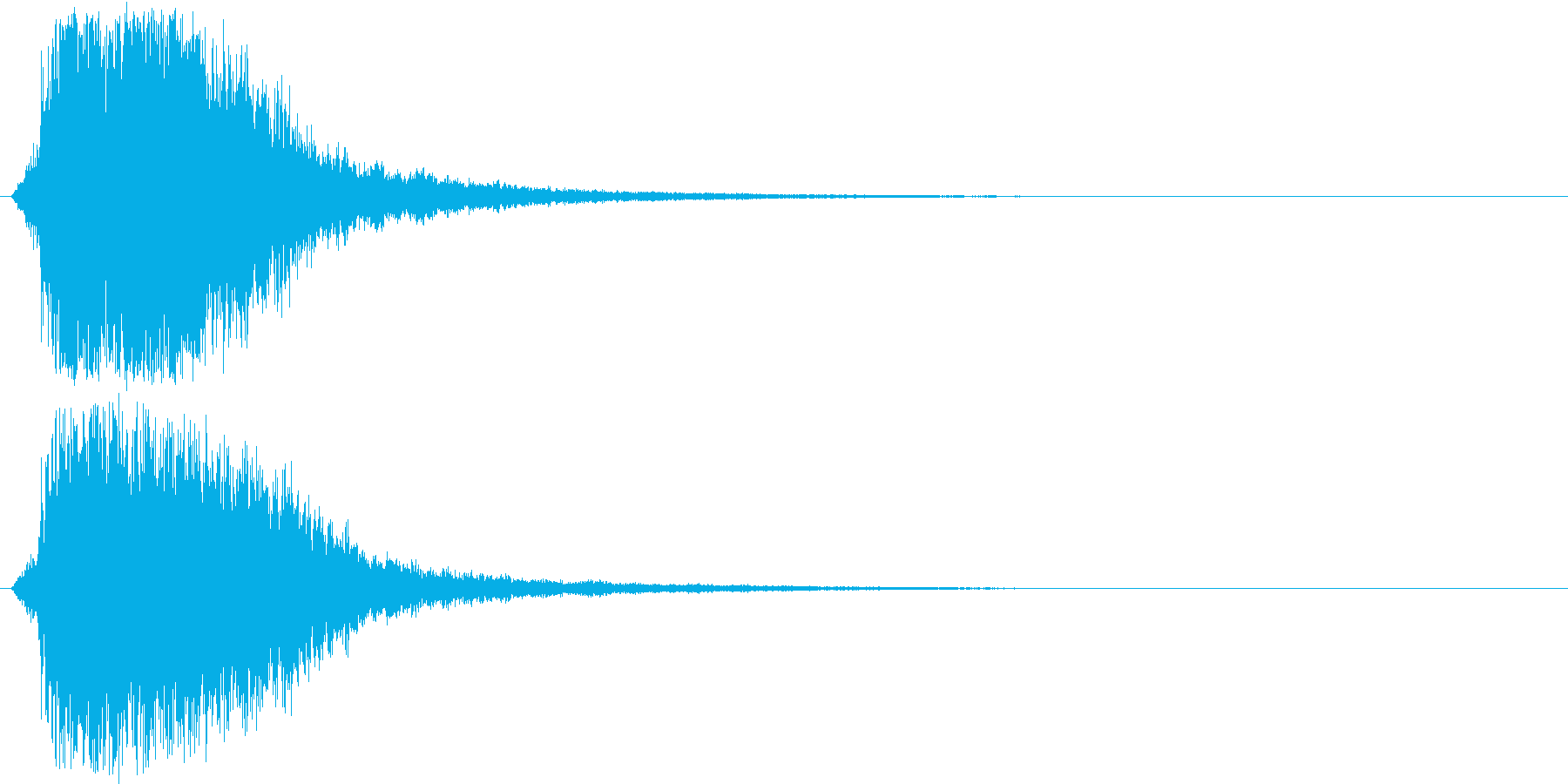 シャキーン(刀や剣のインパクト効果音)3の再生済みの波形