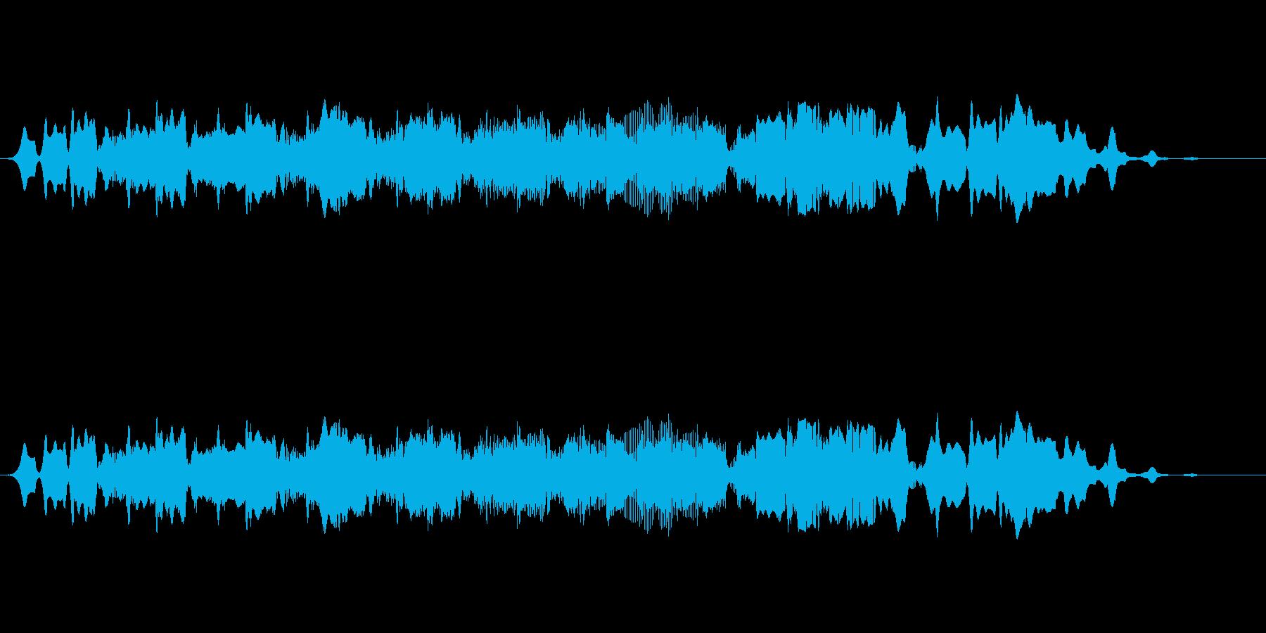 水を連想させる音色での落下、降下する感じの再生済みの波形