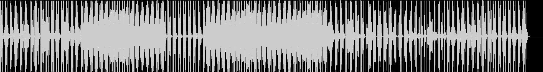 ハウス系リズムトラックの未再生の波形